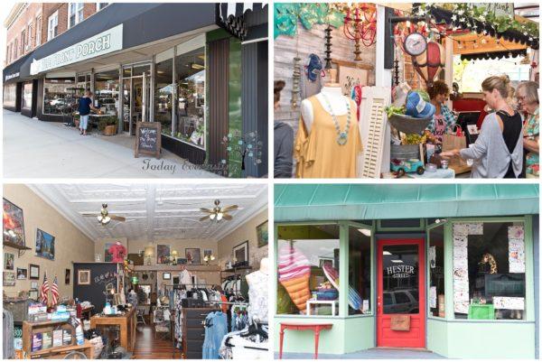 Unique storefronts, community shops